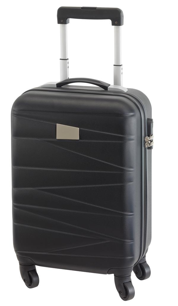6e1705c751e0 Padua gurulós utazó bőrönd, fekete
