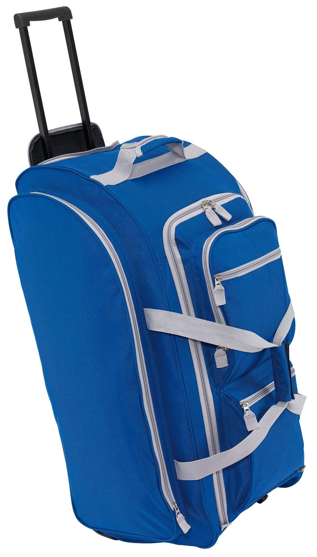 6c815be19dc3 9P gurulós utazó táska, kék-szürke